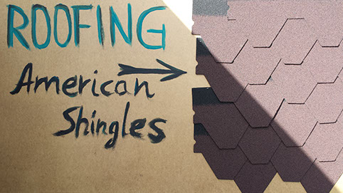 Roofing - American Shingles display