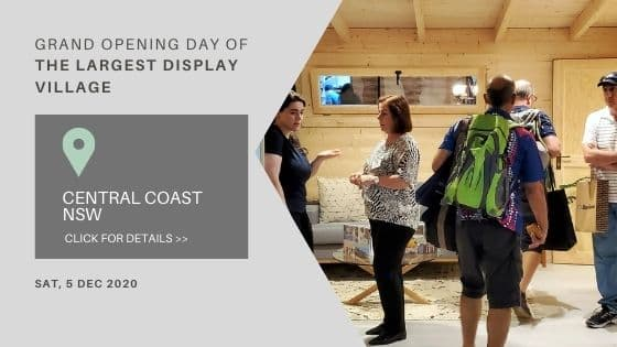 Grand opening day of display village Ourimbah 2020 banner news