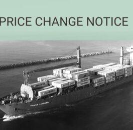 Price change notice