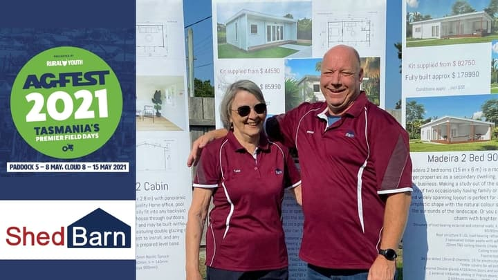 Meet Brian and Kate Best, builder servicing Tasmania at Agfest 2021
