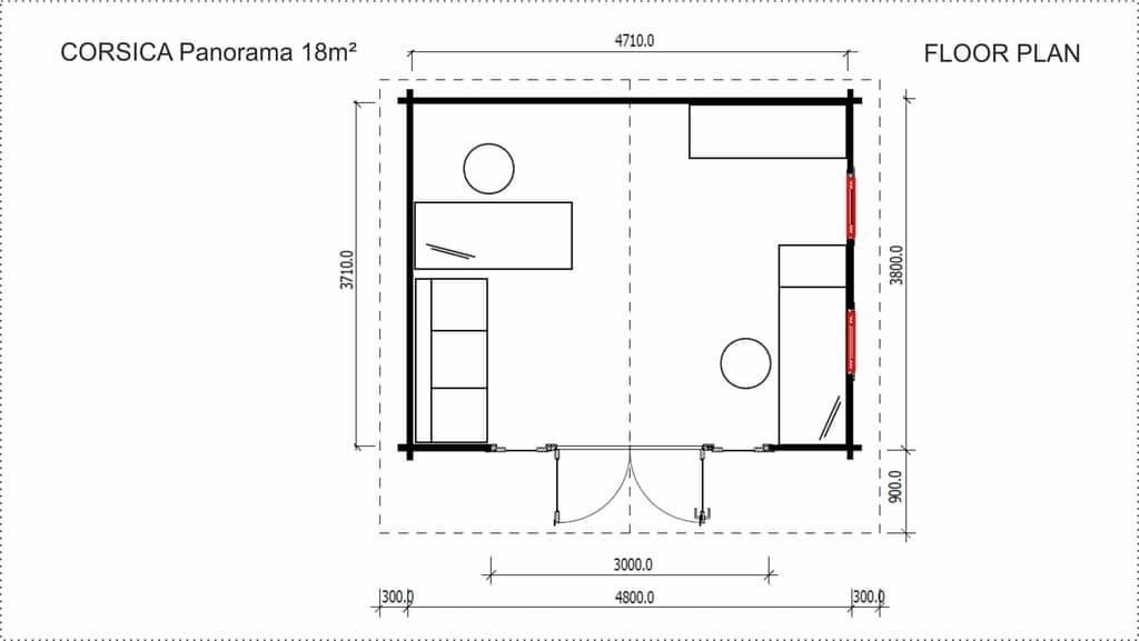 Corsica Panorama Zen Space floor plan