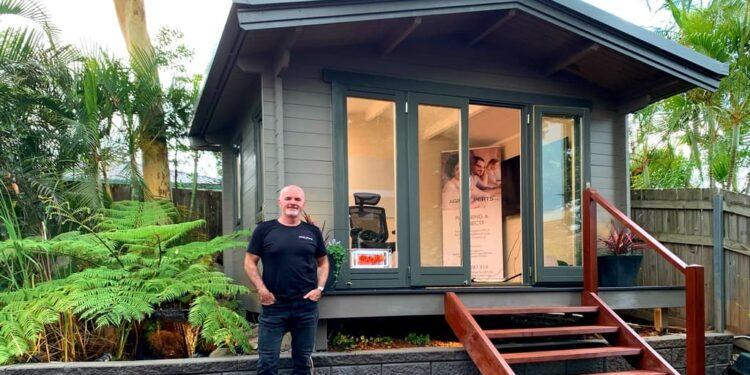 Brett Cowan owner of home office, Brisbane, QLD