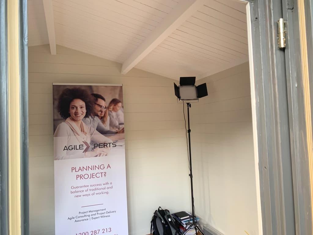 Inside home office in Brisbane, QLD