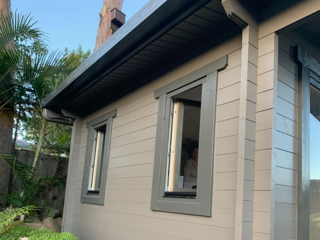 A home office, Brisbane, QLD, side painted