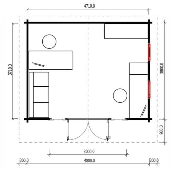 Home office ACT floor plan Crete Panorama 18
