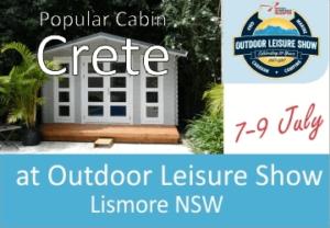 Backyard Cabin Crete At Outdoor Leisure Show