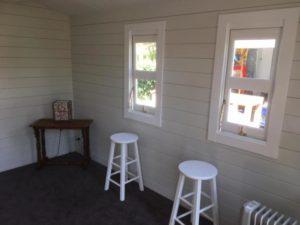 Inside backyard cabin Corsica, Central Coast