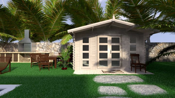 Backyard cabin Crete 12 m²
