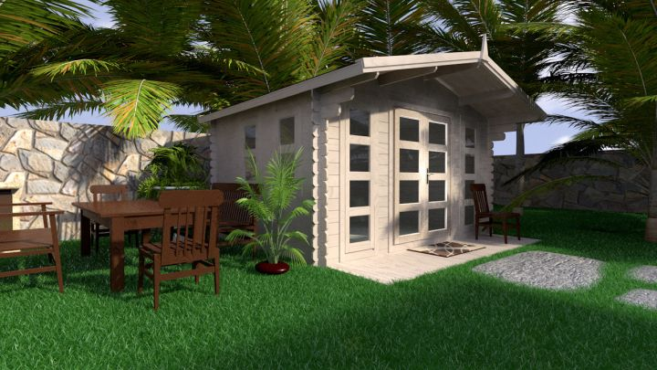 Backyard cabin Crete 10 m²