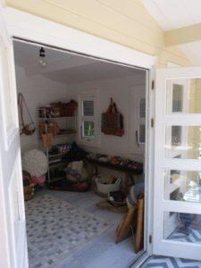 Inside backyard cabin Crete, Avoca Beach