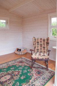 Inside backyard cabin Crete