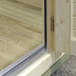 Backyard cabin aluminum thresholds