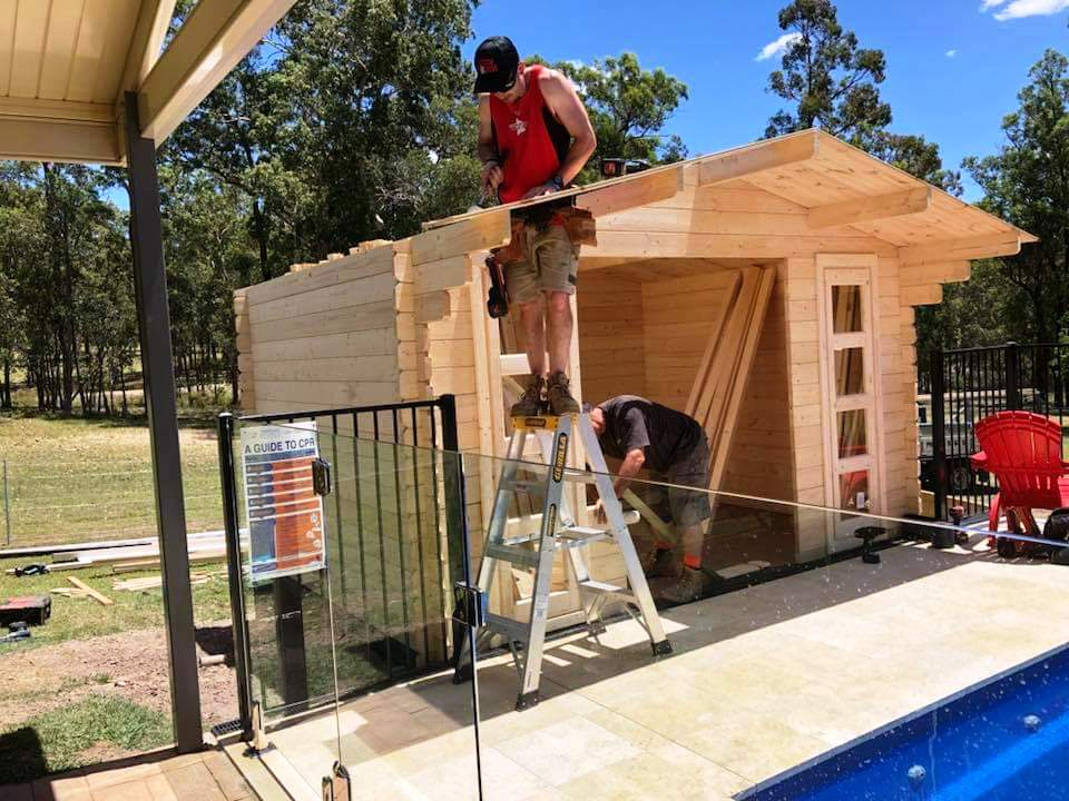 Custom Creations is building pool house