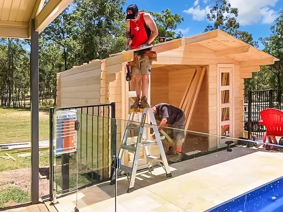 Custom Creations is building pool house