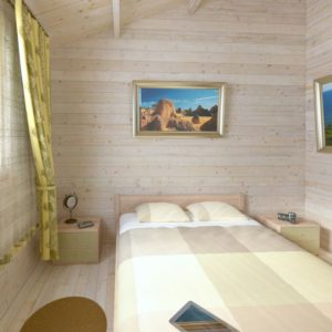 Granny flat Greenland 57 m² bedroom
