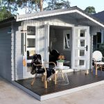 Pool house styling in backyard Southern Highlands