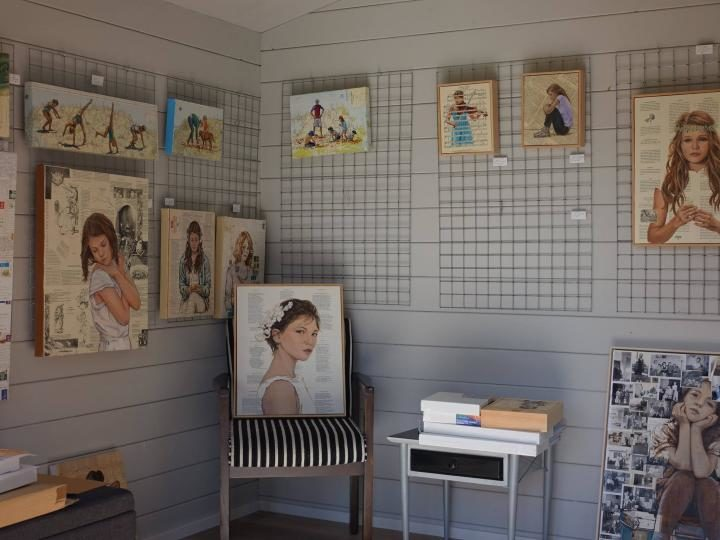 Inside Sherry McCourt Fine Art Gallery, Macmasters Beach