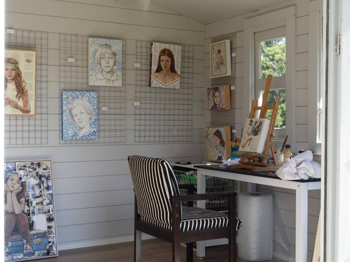 Sherry McCourt Fine Art studio and gallery, Macmasters Beach