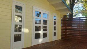 Twin Corsica Backyard Cabin with adjoining deck