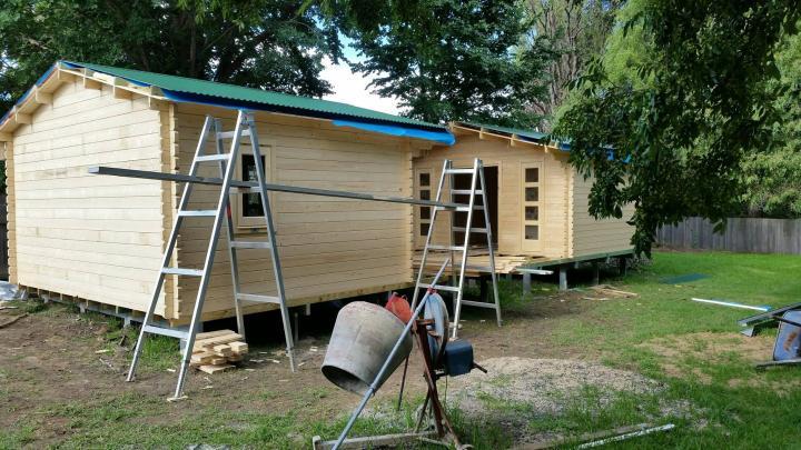 Twin Corsica Backyard Cabin construction