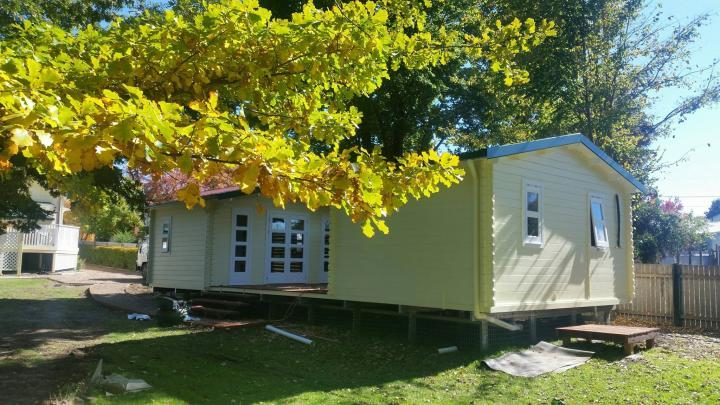 Twin Corsica Backyard Cabin painted