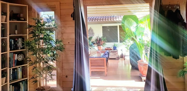 View from inside bedroom addition in Coolum Beach QLD