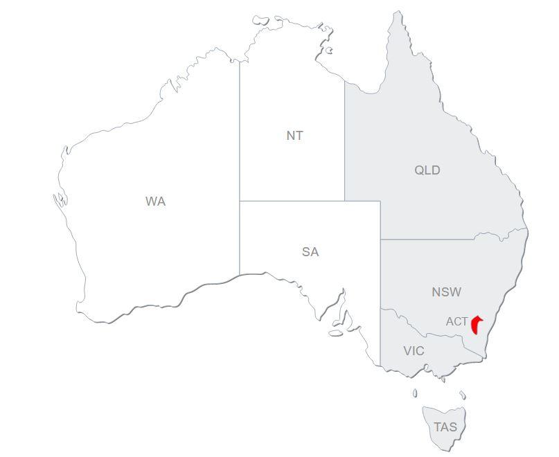 YZY Australia map