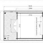 backyard cabin Majorca floor plan
