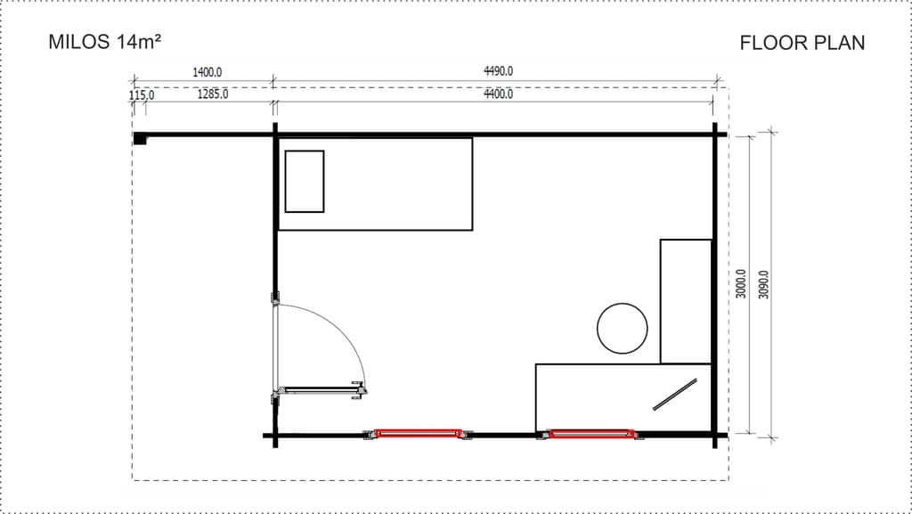 Backyard Cabin Milos floor plan
