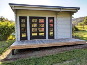 Backyard Cabin Rural Retreat Airbnb Port Macquarie front