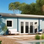 Backyard Cabin Sicilia Panorama 30 | Blue without sidewalls