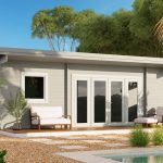 Backyard Cabin Sicilia Panorama 30 | Grey White without sidewalls