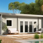 Backyard cabin Sicilia Panorama 30 | Grey White