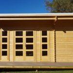 Backyard cabin Sicilia front