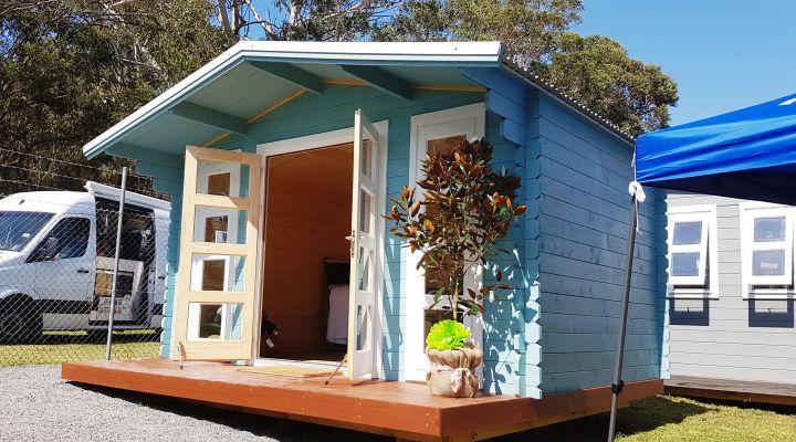 Backyard cabin Crete in a Display Village