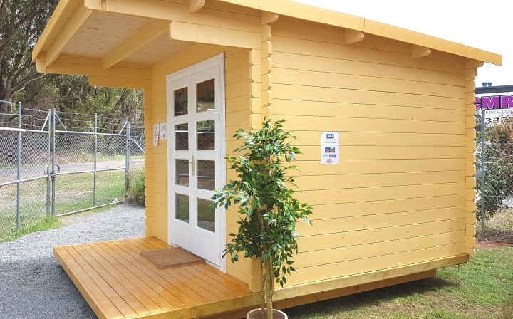 Backyard cabin Majorca in a Display Village