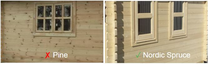 Backyard cabin nordic spruce vs pine