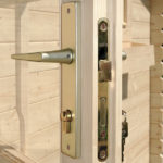 Backyard cabin quality door lock