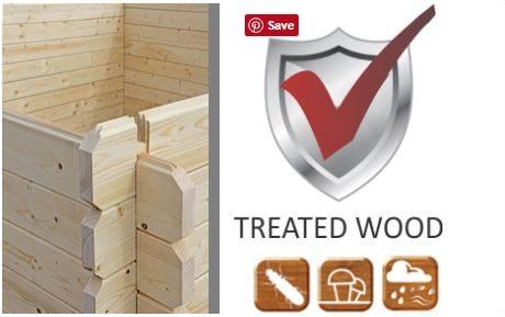 Backyard cabin treated wood