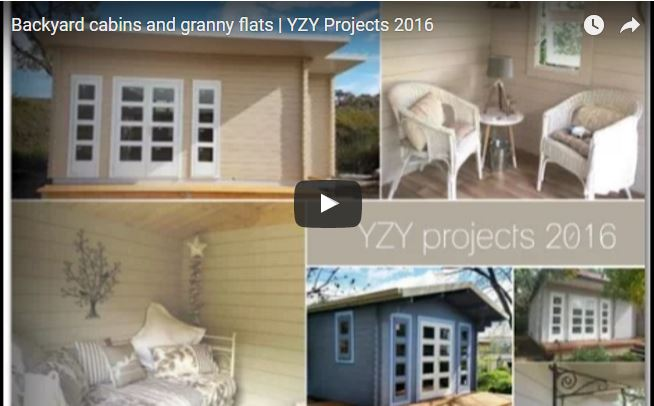 Backyard cabins and granny flats built in 2016 yzy kit homes for Backyard cabins granny flats