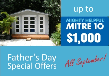 Backyard cabins and granny flats Fathers Day offer, 2017