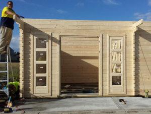 Building Sicilia backyard cabin