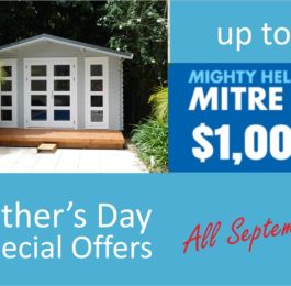 Backyard cabins offers fathers day