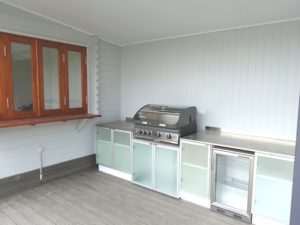 Daughters Retreat Pool House Central Coast outdoor kitchen