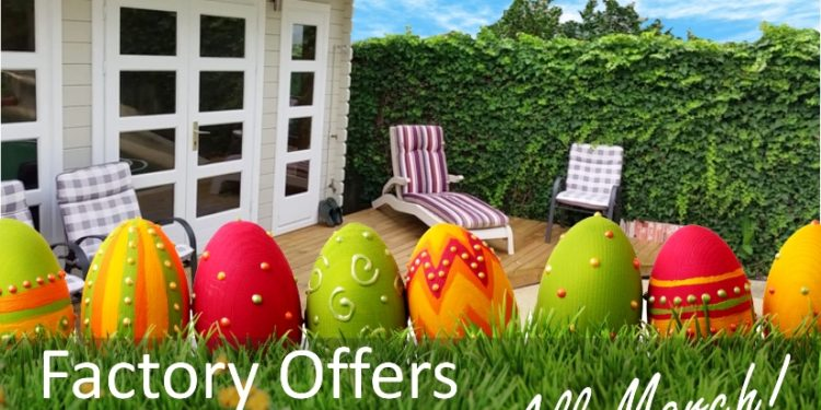 Easter Backyard Cabins sale March 2018