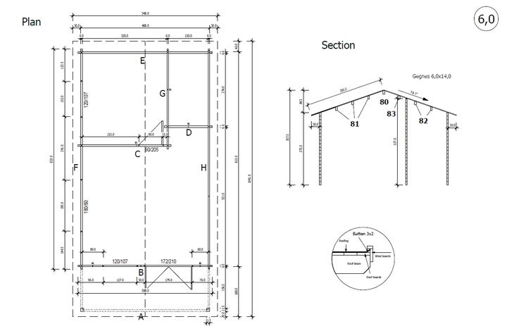 Floor plan custom Cyprus granny flat