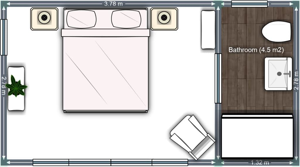 Floor plan Guest house in ACT