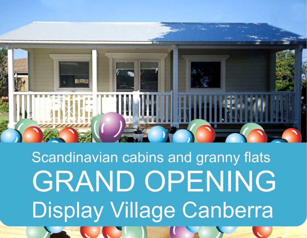 grand opening display village of scandinavian granny flats in canberra