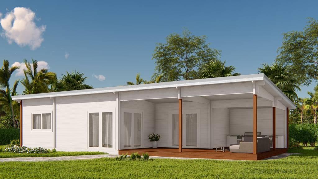 granny flat Madeira v1 front, white, veranda