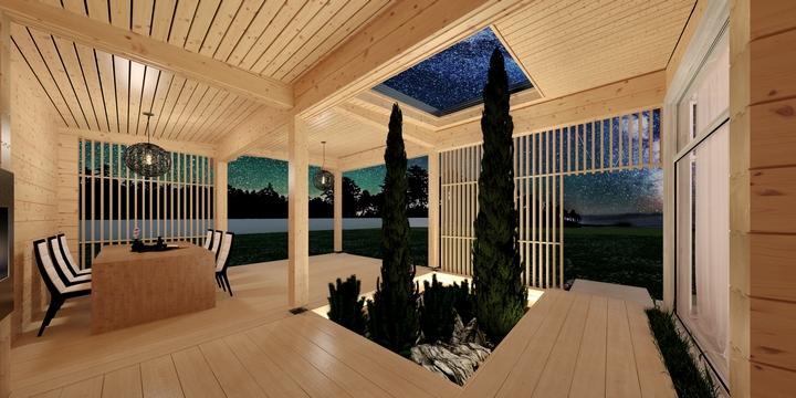 Granny Flat Madeira veranda design